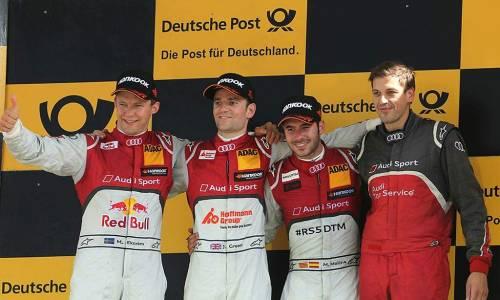 Audi firma dos tripletes en el circuito de Lausitzring