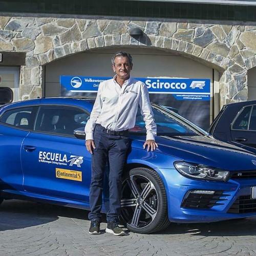 Luis Moya, en el Volkswagen Driving Experience