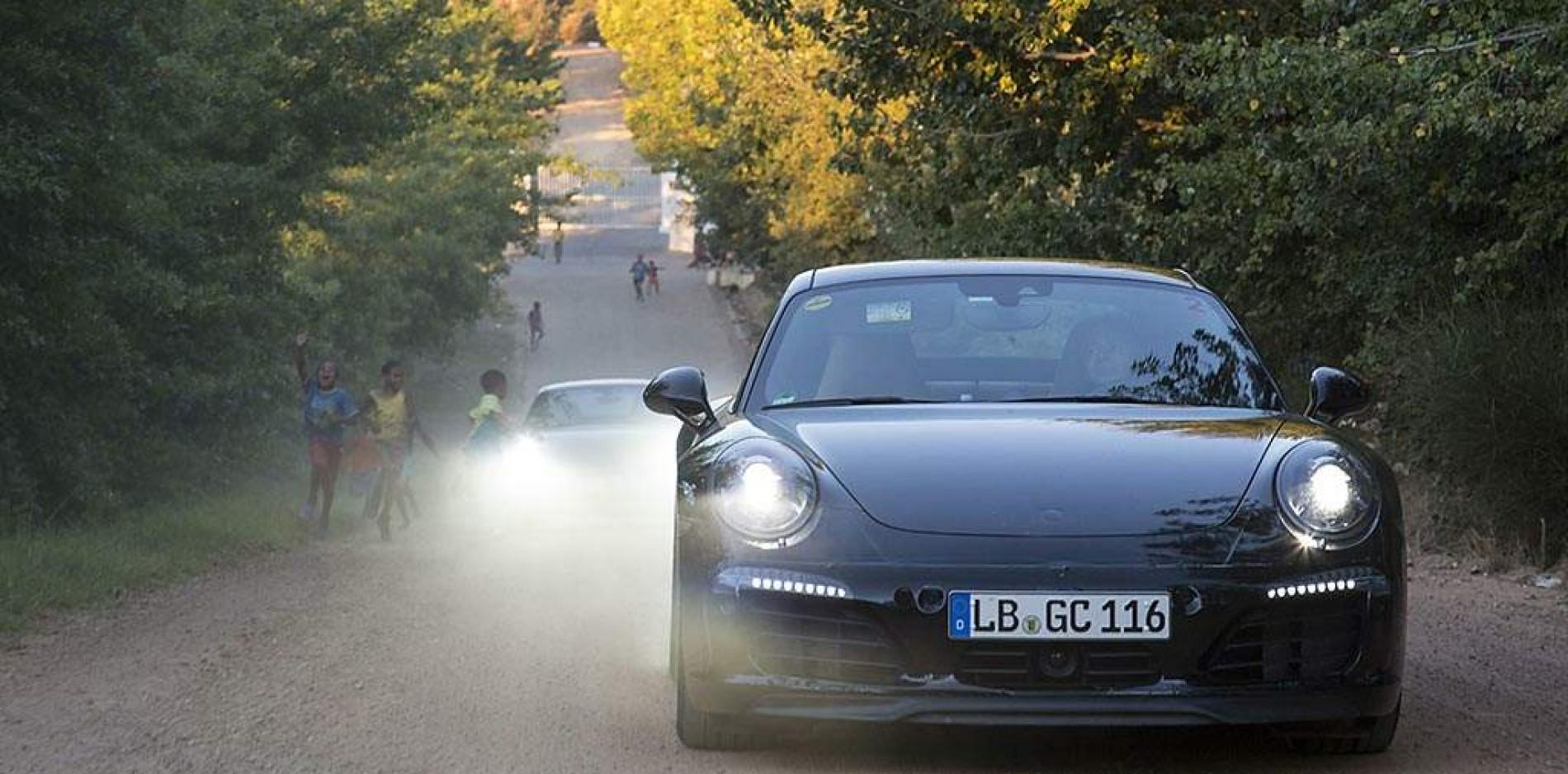 Nuevo Porsche 911 2016, camuflado