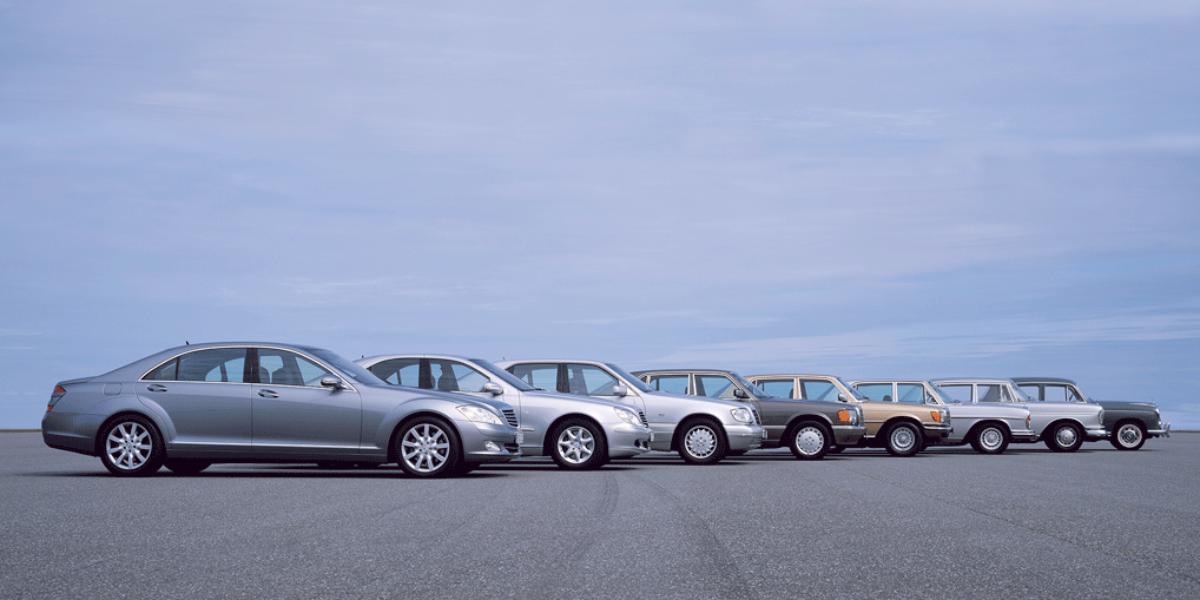 Mercedes-Benz Clase S: todas las generaciones