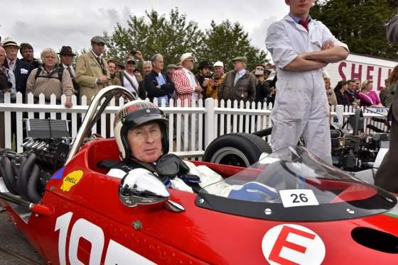 Jackie Stewart fue una de las personalidades que no quiso perderse la cita de Goodwood.
