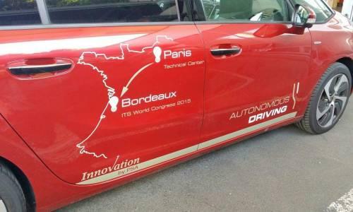 Un coche autónomo de PSA viaja de París a Burdeos