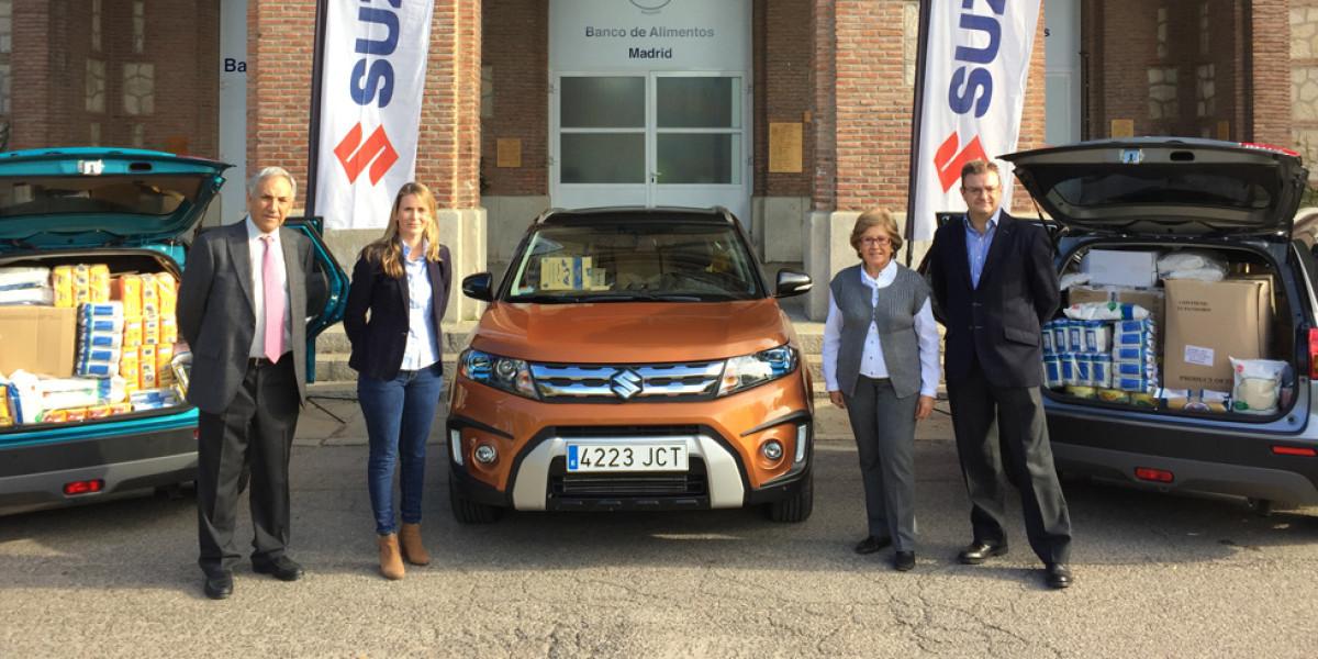 Suzuki colabora con el Banco de Alimentos
