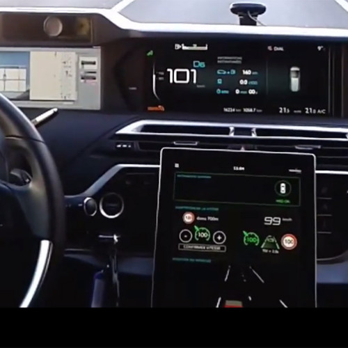 Vídeo del coche autónomo de PSA circulando en España