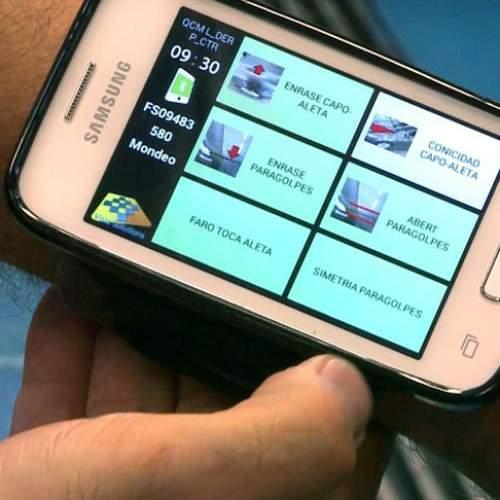 Aplicación de Ford para teléfono en la planta de Almussafes