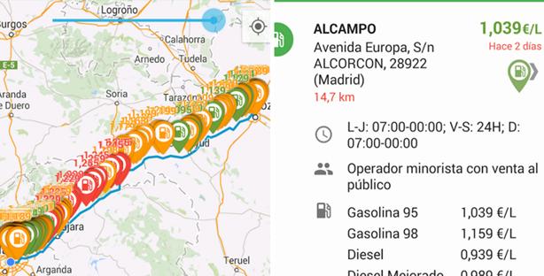 Gasolina y Diésel en España