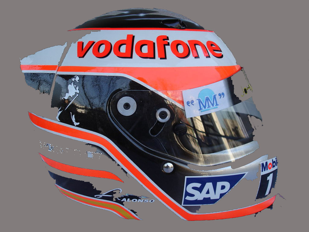 Circuito Fernando Alonso Precio : Los cascos especiales de fernando alonso en f1 clicacoches