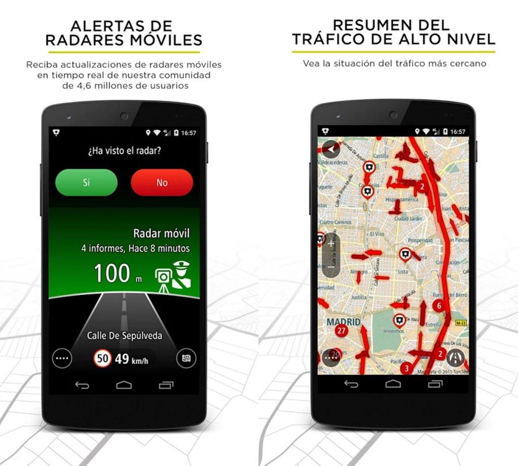 TomTom radares de tráfico