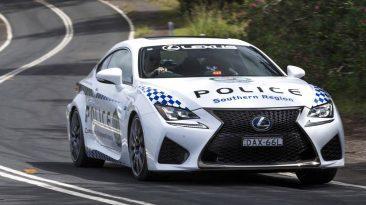 Lexus RC F policía australiana