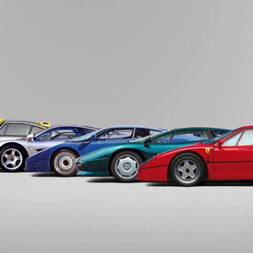 Del Ferrari GTO al F50: la era de los superdeportivos