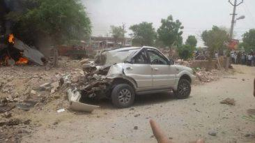 Accidente de caza de combate contra un Tata Safari