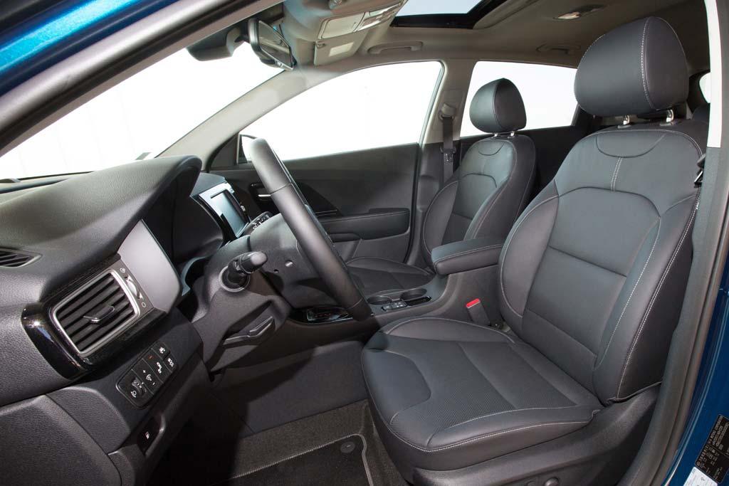 Prueba Kia Niro Hybrid asientos delanteros