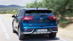 Prueba Kia Niro Hybrid trasera azul