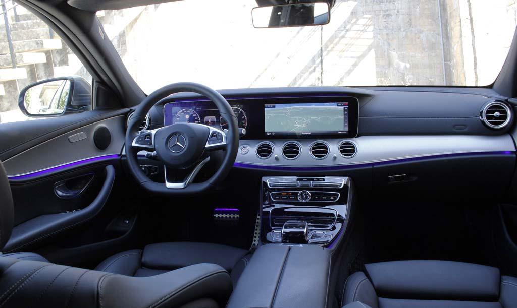 Prueba Mercedes E 220d 2016 interior AMG