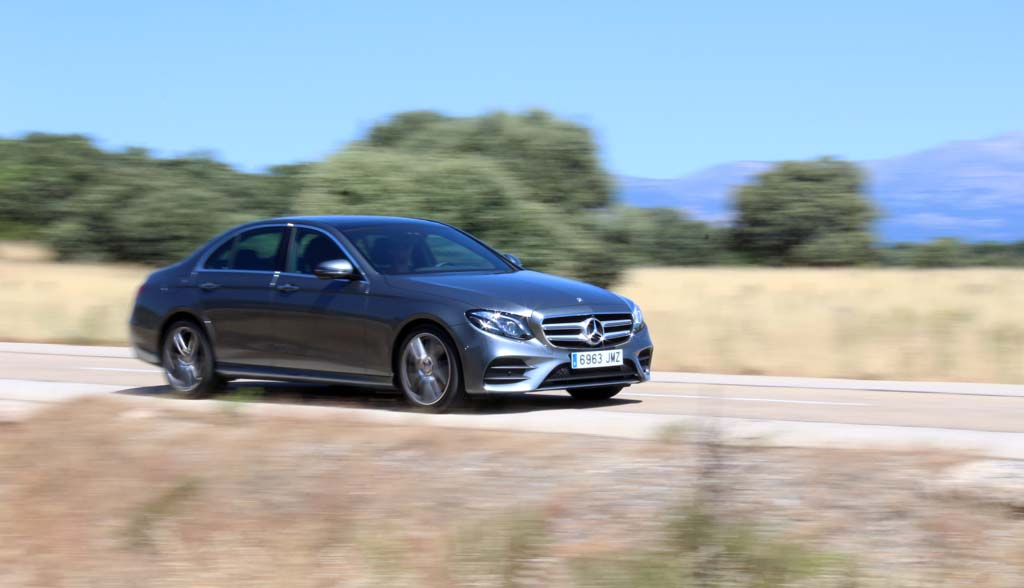 Prueba Mercedes E 220d 2016 movimiento