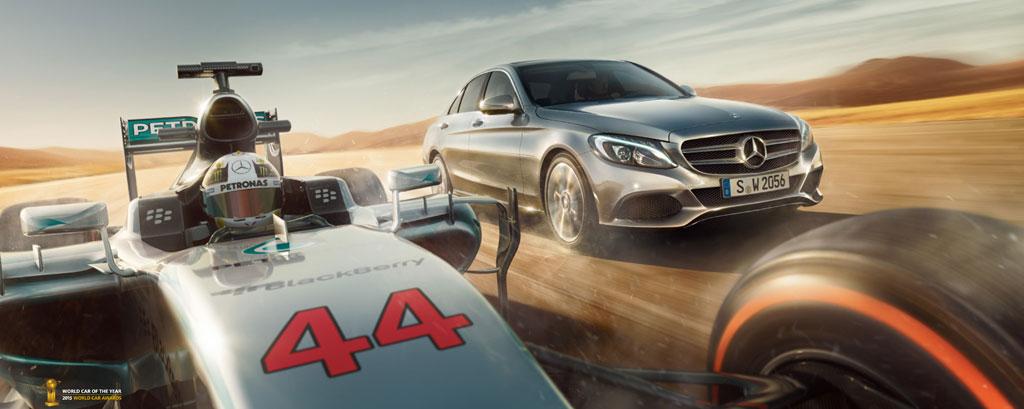 Soluciones Mercedes de F1 en sus vehículos Mercedes AMG Petronas Mercedes-Benz C 350 e