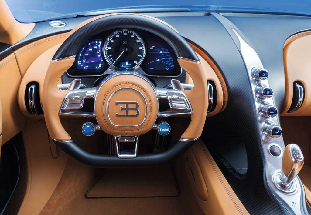 Interior del Bugatti Chiron 2016