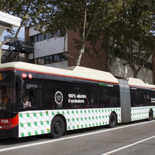 Los autobuses ya cuentan con puntos de recarga en Barcelona