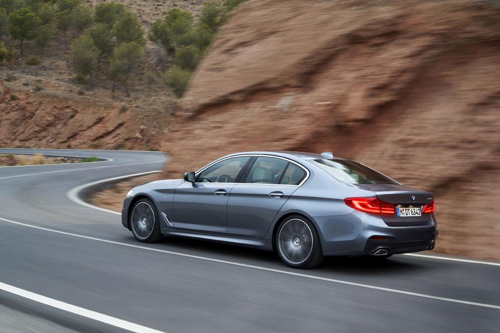 Nuevo BMW Serie 5 2017 - Trasera en movimiento