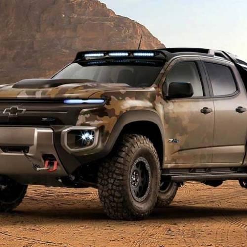 Chevrolet Colorado ZH2, la pila de combustible con fines militares