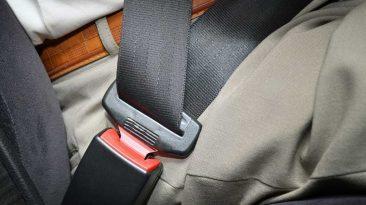 Cinturón de seguridad abrochado