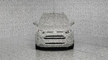 Ford envuelve a sus coches en un camuflaje 3D que distrae completamente la atención sobre ellos.