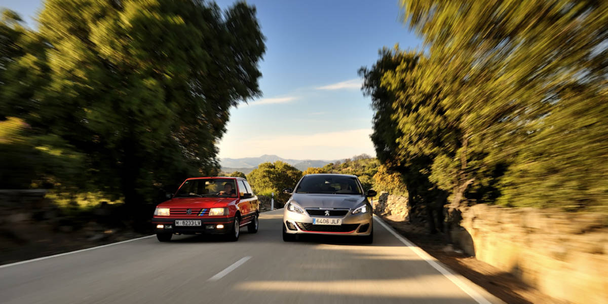 Comparativa Peugeot 308 GTi 270 contra Peugeot 309 GTI 8v