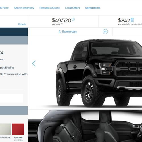Vuélvete loco configurando online la Ford F-150 Raptor 2017