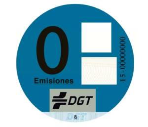 Etiqueta DGT Tipo 0 emision