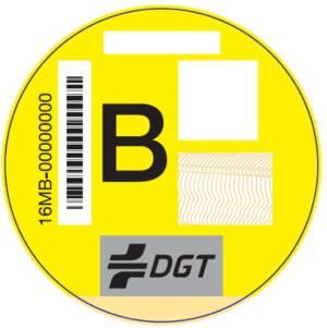 Etiqueta DGT Tipo B emisiones
