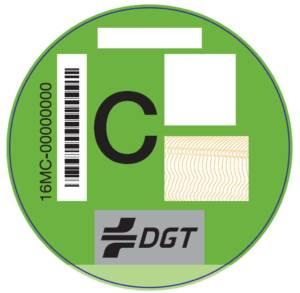 etiqueta DGT emisiones Tipo C