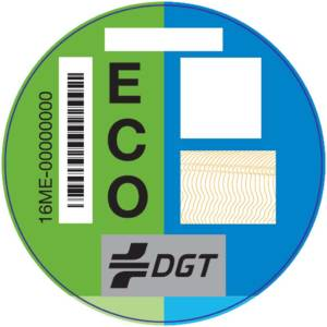 Etiqueta Eco DGT emisiones