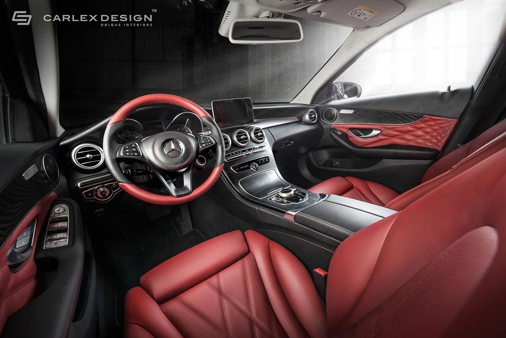 Acabado en rojo y negro para este mercedes clase c de carlex for Interior mercedes clase a