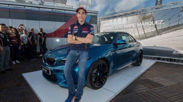 Marc Márquez y su BMW M2 Coupé