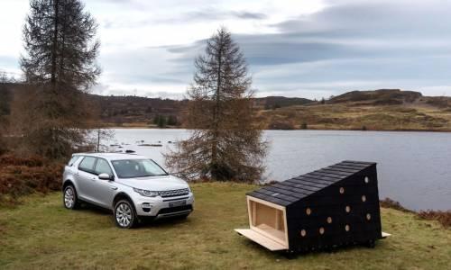 Land Rover crea una cabina para el descanso de Papá Noel