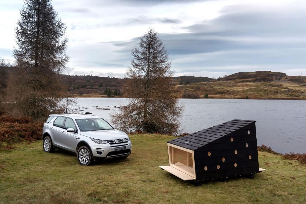Land Rover crea una cabina especial para el descanso de Papá Noel