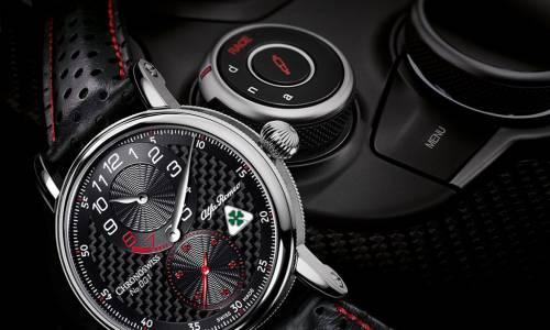 Chronoswiss crea un reloj homenaje al Alfa Romeo Giulia Quadrifoglio