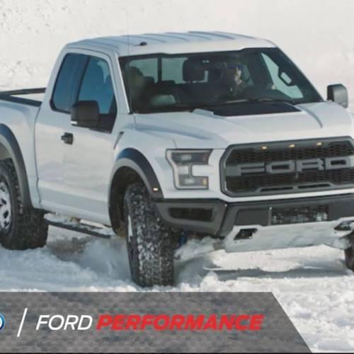 ¿Nieve? Con la Ford F-150 Raptor es un mero trámite