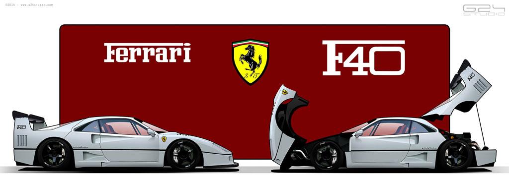 Ferrari F40 G24 Studio