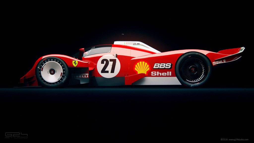 Scuderia Ferrari LMR1 Concept Le Mans