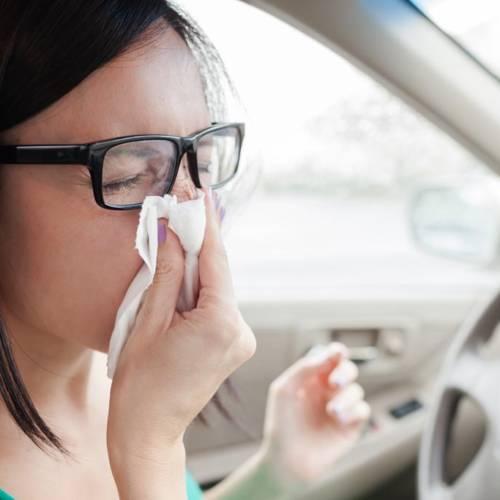 Alergia y conducción:¿cuándo puedes conducir?