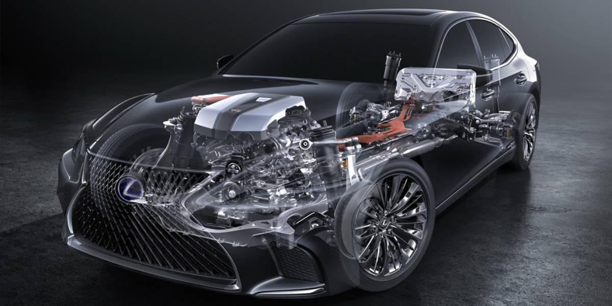 Lexus LS 500 h, así es su sistema híbrido