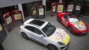 Porsche: exposición de la obra Pop Art de Roy Lichtensteinn (fotos)