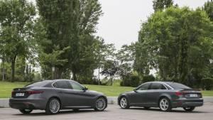 Alfa Giulia 2.2 diesel 180 CV contra Audi A4 2.0 TDi 190 CV: comparativa