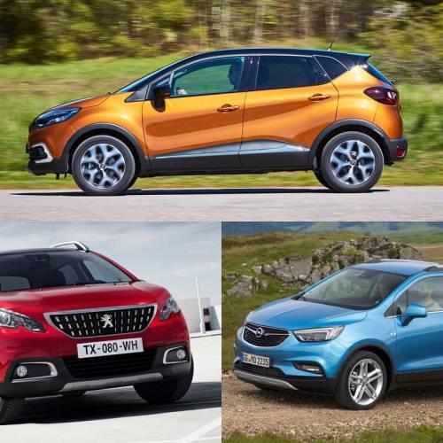 ¿Cuál es el mejor SUV pequeño? ¿Renault Captur, Opel Mokka X o Peugeot 2008?