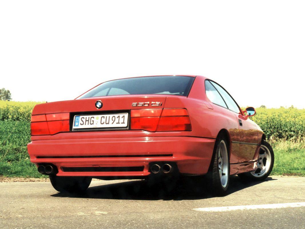 Coches clásicos de los 90 en los que invertir: BMW 850 CSI trasera