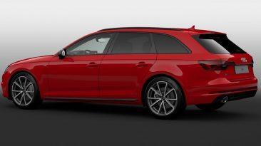 Vista lateral trasera del Audi A4 Avant Black line edition
