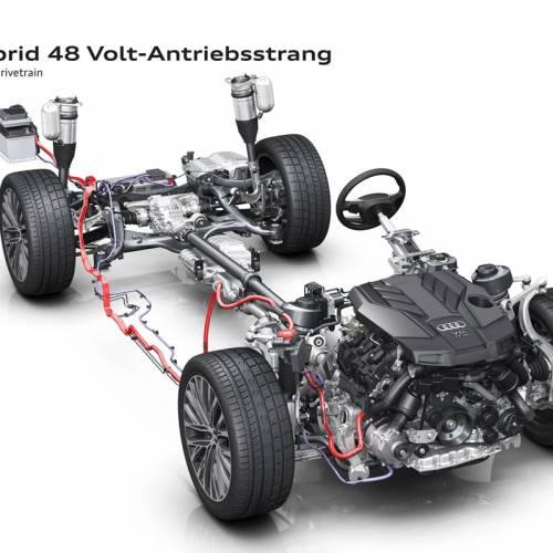 El  Audi A8 2017 contará con el sistema híbrido Mild hybrid (MHEV):