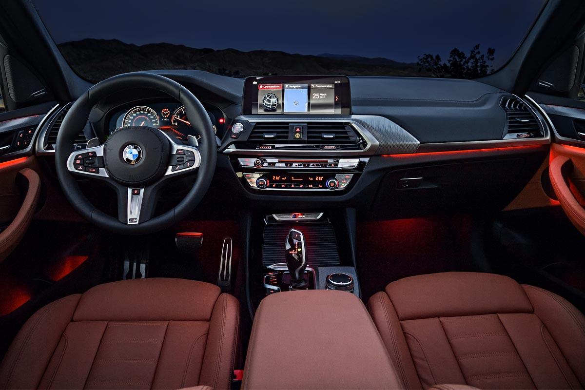 BMW X3 M40i consola central