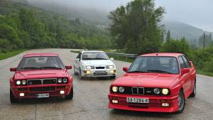 BMW M3 E30 contra Ford Sierra RS Cosworth y Lancia Delta HF Integrale Evo1 (fotos)